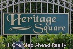 sign for Heritage Square