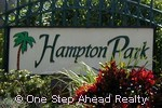 sign for Hampton Park