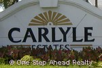 sign for Carlyle Estates