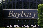 sign for Baybury